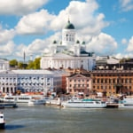 View of Helsinki, Finland the Land of a thousand lakes