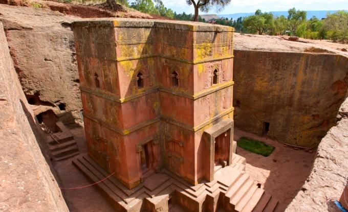 Church of St. George, UNESCO World heritage, Lalibela, Ethiopia.