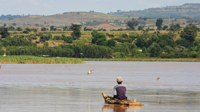 Fisherman on Lake Tana Ethiopia