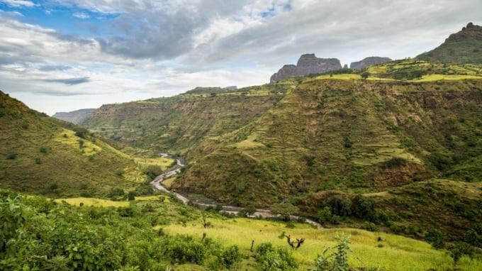 Beautiful landscape of Ethiopia