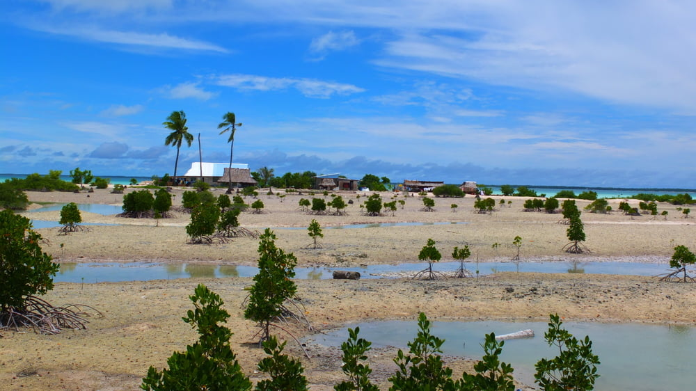 Kiribati:A Nation of Atolls and Coral Islands with Turquoise Blue and Green Waters Along the Pacific