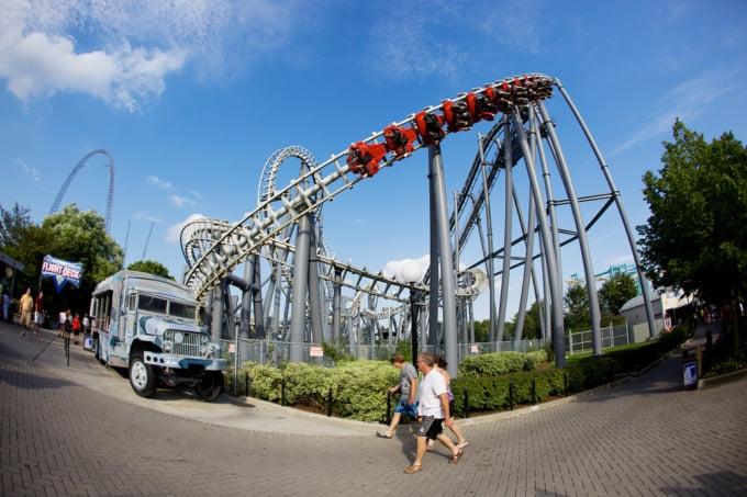 Canada's Wonderland famous theme park in Toronto