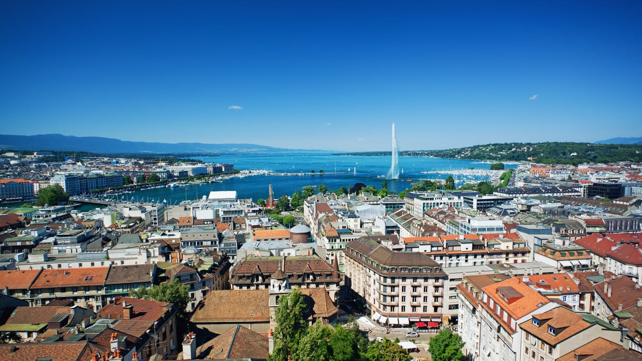 Geneva : A Charming City Located on The Rhone in Switzerland