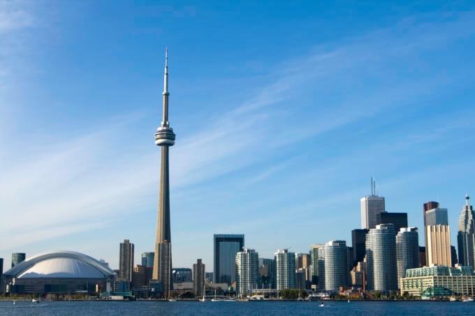 Toronto Skyline famous skyscraper