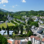 Summer view of Lourdes France