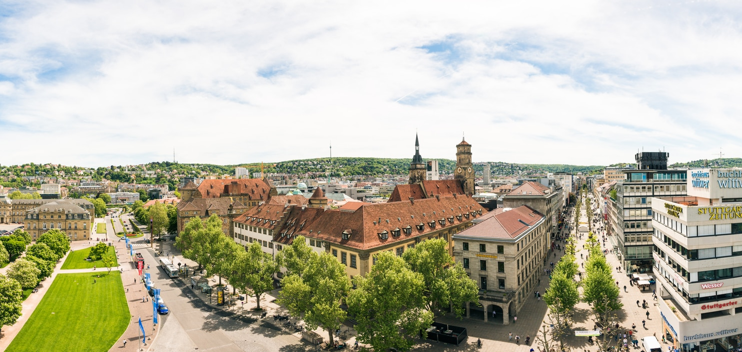 Stuttgart : The Capital of Baden-Wurttemberg State, with Vine Filled Hills and Birth Town of the Motor Industry