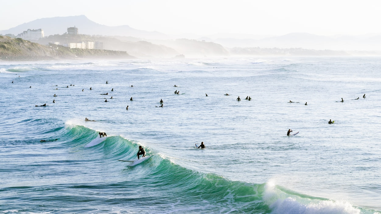 Biarritz : An Elegant Summer Surfing Paradise on the Southwestern Basque Coast of France