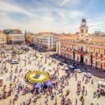 La Puerta del Sol from Above Madrid