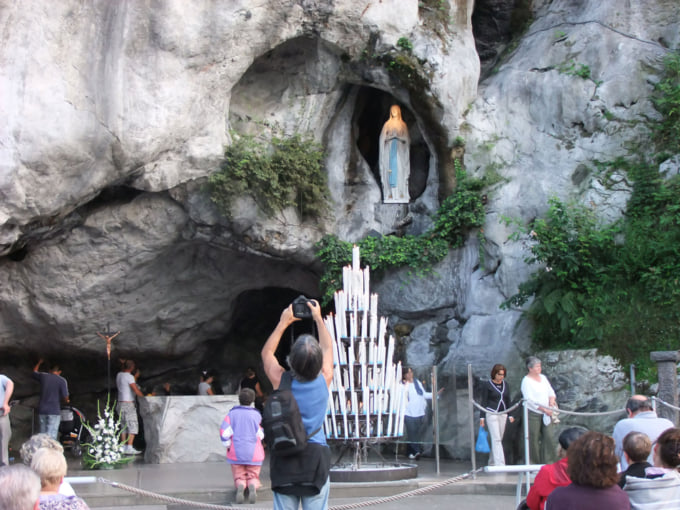 Massabielle Grotto in Lourdes France