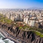 City skyline of Lima, capital of Peru
