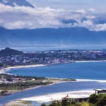 Taiwan east coast view of Hualien and the surrounding coastal scenery