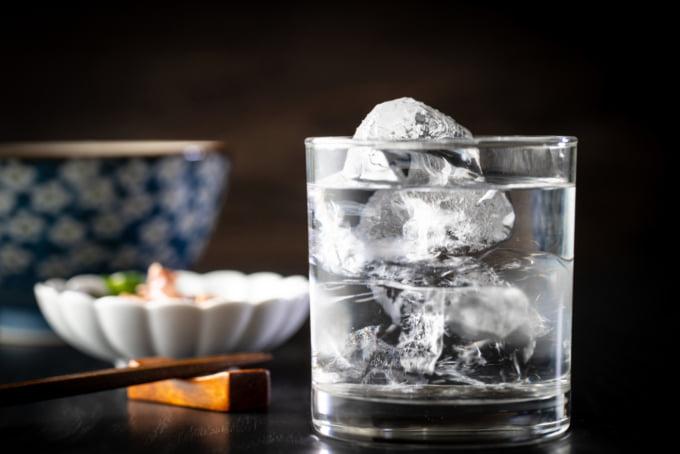 Shochu a kind of Japanese alcohol stronger than nihonshu