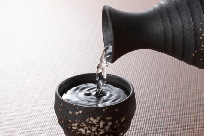 Japanese nihonshu or sake, popular alcohol in Japan