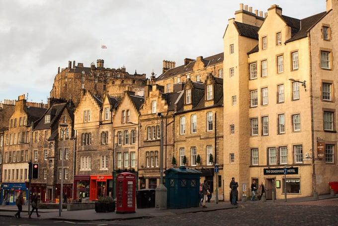 Grassmarket Hotel and surroundings in Edinburgh, Scotland