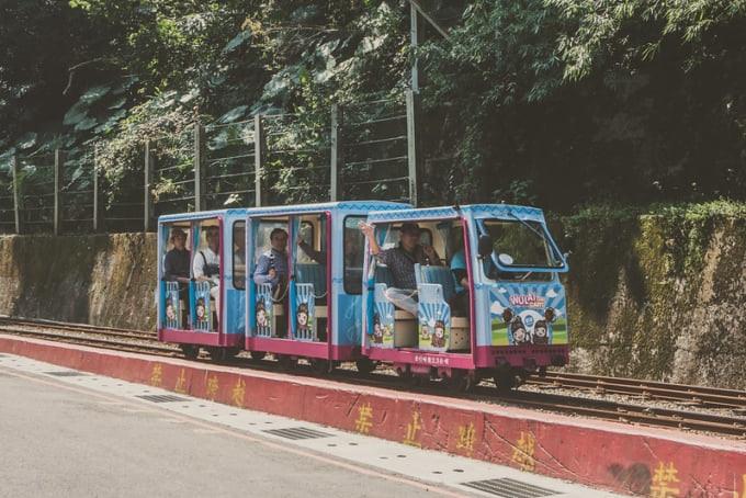 Scenic train in Wulai Hot Spring Area, Taiwan