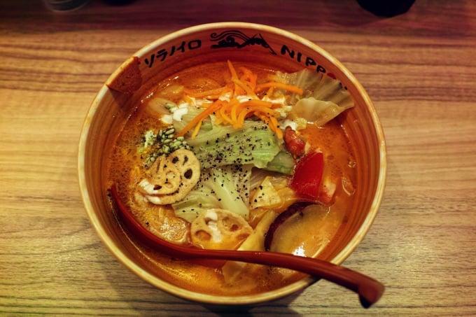 delicious Michelin worthy vegan ramen in Tokyo