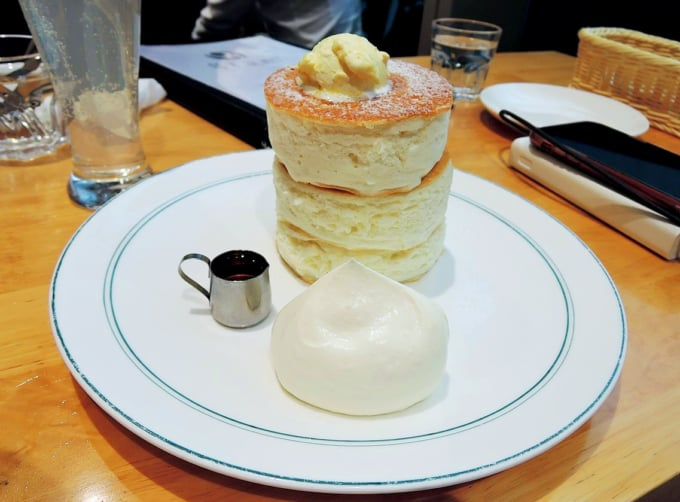 Delicious Japanese Souffle Pancakes at GRAM Tokyo