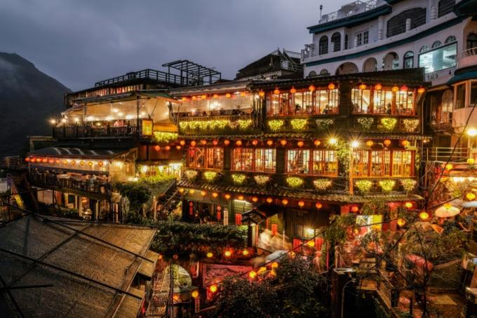Famous teahouse in Jiufen, Taiwan