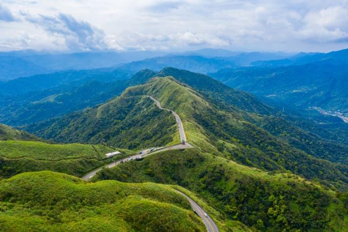 Mountainous Landscape around Jiufen, Taiwan
