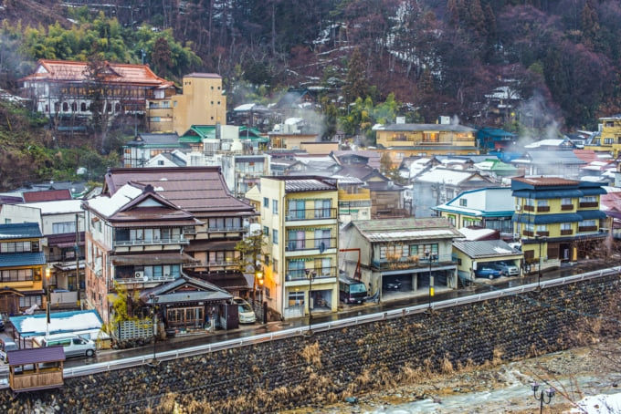 Shibu Onsen, hot spring town in Nagano, Japan