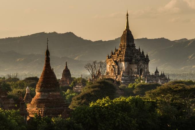Gawdawpalin, beautiful temple in Bagan, Myanmar