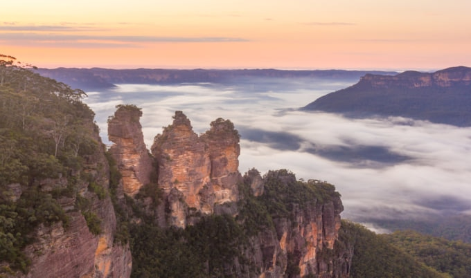 Incredible view of the Blue Mountains in Australia