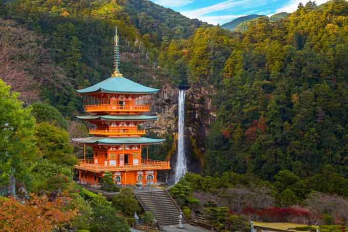beautiful view of Nachi Falls Japan