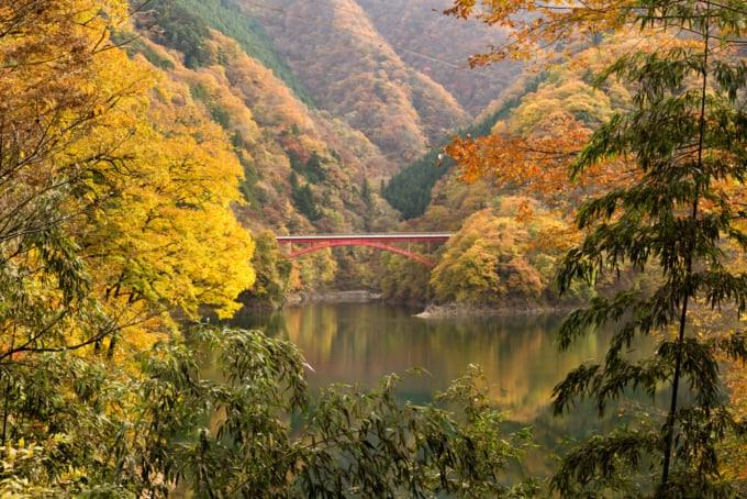 beautiful view of Okutama valley in Tokyo