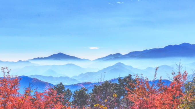 Beautiful Mountains View from Mount Takao