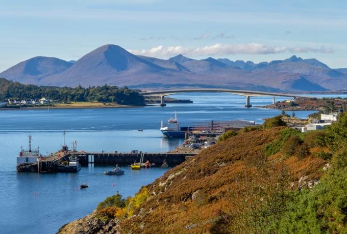 Kyle of Lochalsh in the Scottish Highlands