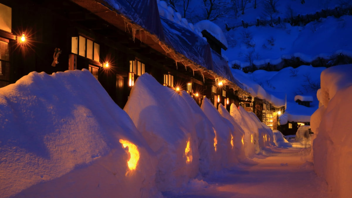 Nyuto Onsen, a Secluded Hot Spring Town in the Mountains of North Japan
