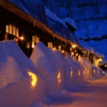 Winter scenery of Nyuto Onsen