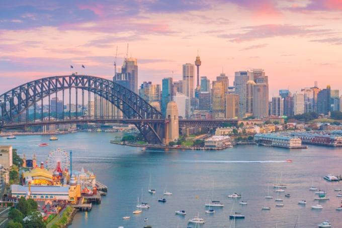 Beautiful view of Sydney skyline in Australia
