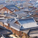 Incredible view of Jeonju, traditional village in South Korea