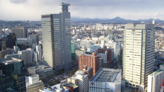 View of Sendai from AER Building