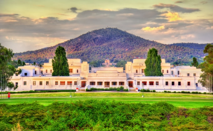 Canberra old parliament building in NSW Australia