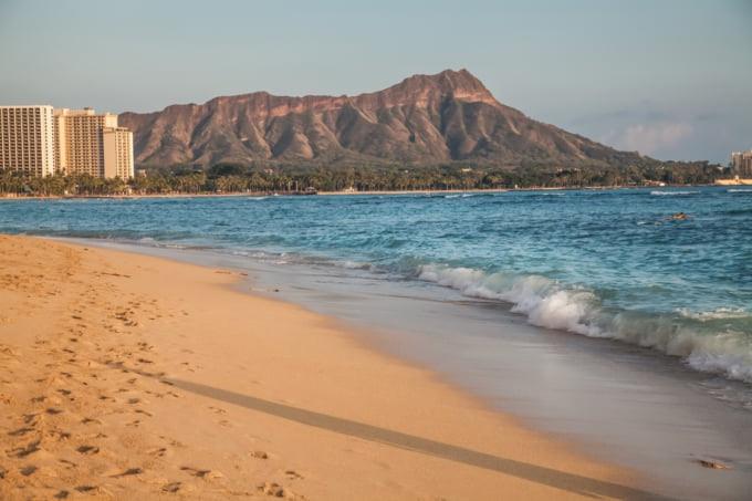 Hawaii Waikiki beach in Honolulu