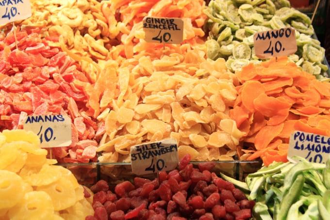 Dried fruit in Istanbul, Turkey
