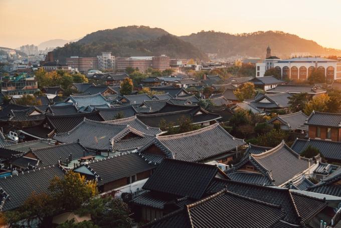 beautiful View of Jeonju Hanok Village