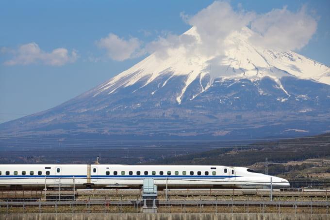 Tokyo to Osaka by Shinkansen, bullet train, beautiful view