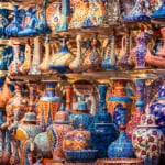 Beautiful items in the Grand Bazaar, Istanbul