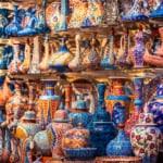 Beautiful items in the Grand Bazaar, Istanbul