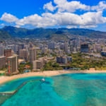 Hawaii, Honolulu beautiful Aerial View