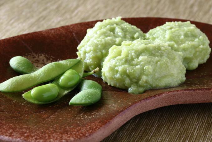 Zunda mochi - Japanese traditional sweets,Edamame rice cake