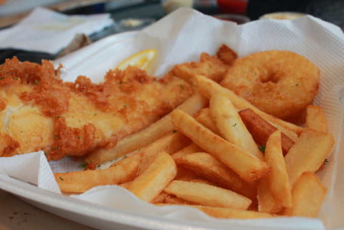 fish and chips in New Zealand