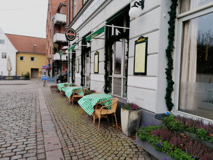 Restaurant in Odense Denmark during the COVID-19 pandemic