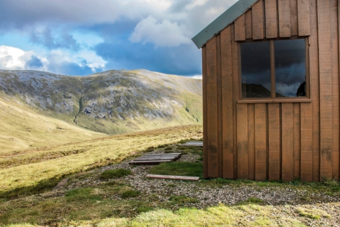 Mountain hut or Bothy in Scotland