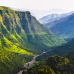 Valley among the mountains in Ethiopia, Stunning landscape and greenery of Ethiopia
