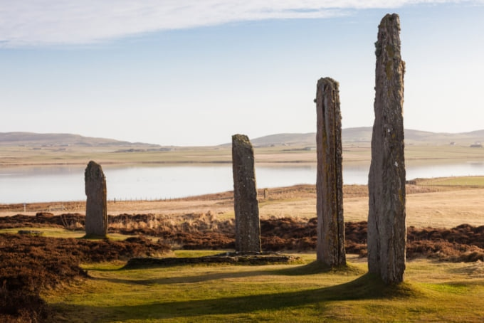 United Kingdom, Scotland, Orkney Islands, Mainland, Ring of Brodgar, Heart of Neolithic Orkney