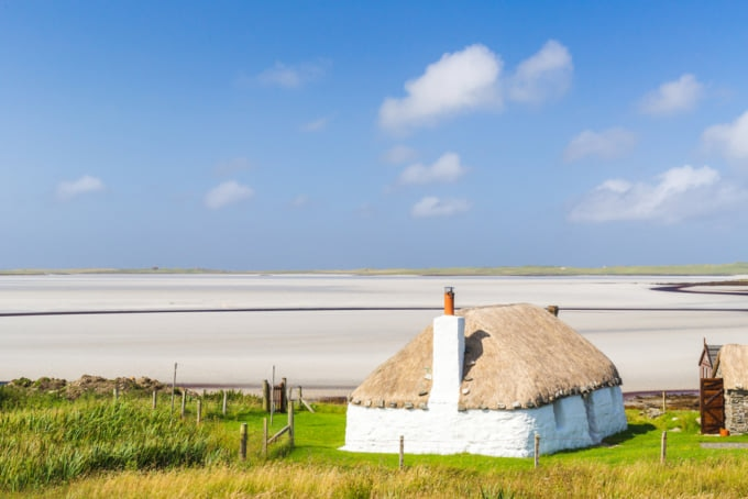 cottage in Uist, Scotland